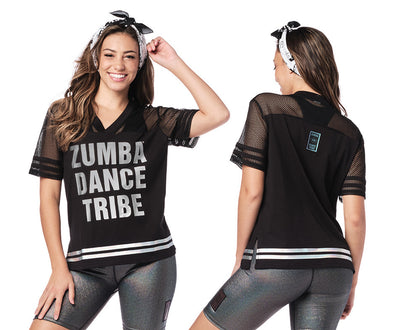Zumba Dance Tribe Mesh Top - Bold Black Z1T02276