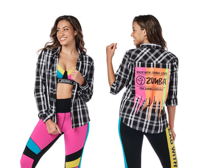 Zumba For Zumba Lovers Button Up - Bold Black Z1T02282