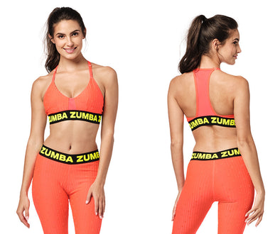 Zumba Bold Is The New Basic Bra - Coral Craze / Bold Black Z1T02306