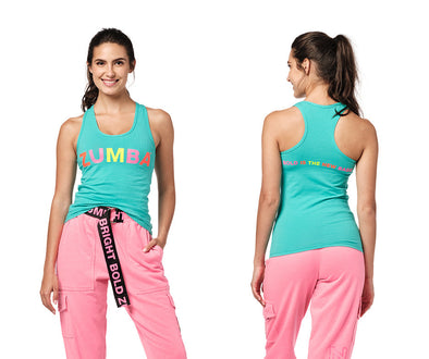 Zumba Bold Is The New Basic Racerback - Turquoise / Black Z1T02307