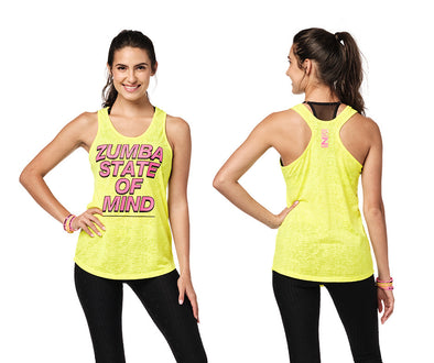 Zumba State Of Mind Tank - Caution / Turquoise Z1T02314