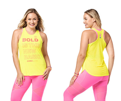 Zumba Bold Is The New Basic Tank - Bold Black / Caution Z1T02315
