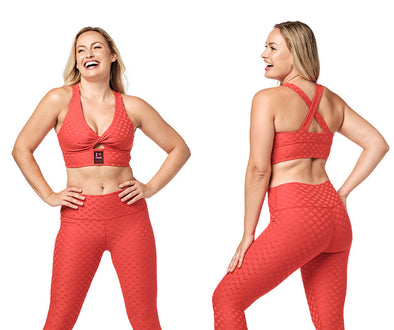 Zumba Love Twist Bra - Cherry Z1T02374