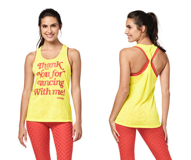 Zumba Twisted Back Tank - Caution Z1T02377