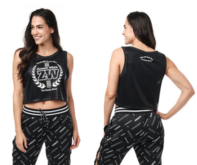 Zumba For Zumba Lovers Crop Tank - Bold Black Z1T02389