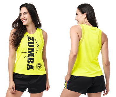 Zumba Team Talk Tank - Bold Black / Caution Z1T02390