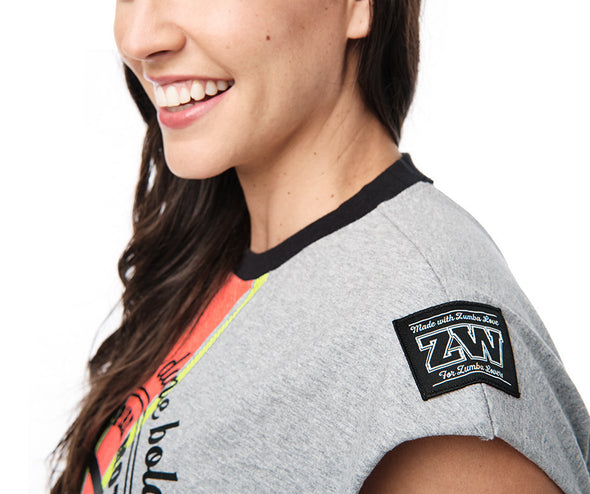 Team Zumba Open Back Top - Bold Black / Pebble Z1T02393