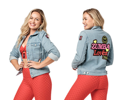 Zumba Lover Forever Jacket - Light Denim Wash Z1T02397