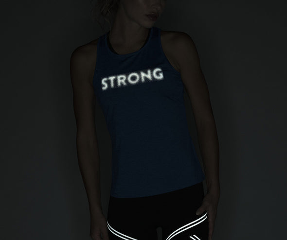 Strong Nation STRONG ID Cut Out Knit Power Tank Top - Blue Z1T02405