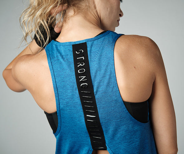 Strong Nation STRONG ID Essential Knit Tank Top - Blue Z1T02406