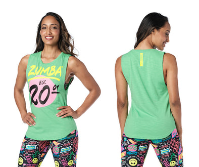 Zumba Pop Muscle Tank Top - Kelly Green Z1T02436