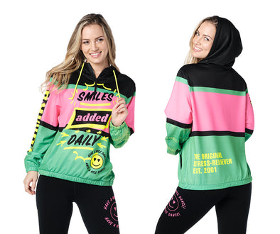 Zumba Pop Pullover Jacket - Bold Black Z1T02442