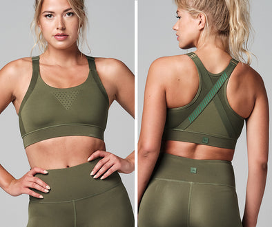 STRONG ID Active Adjustable Strappy Bra - Military Z1T02509