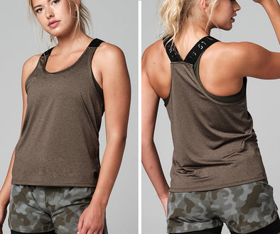 STRONG ID Classic Racerback Training Tank - Military Z1T02535