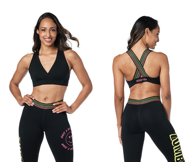 Zumba Pop Bra - Bold Black / Caution Z1T02633