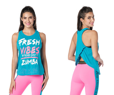 Zumba Fresh Vibes Tank Top - Seaside Surf Z1T02680