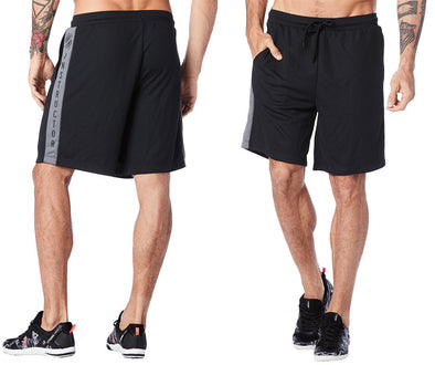 Strong by Zumba Don't Miss A Beat Basketball Shorts - Bold Black Z2B00207 Large