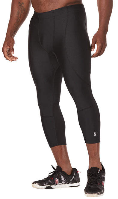Strong by Zumba Rep After Rep Men's Crop Leggings - Bold Black Z2B00209 Small