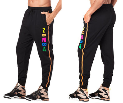 Zumba Z Men's Sweatpants - Bold Black Z2B00217 size XS