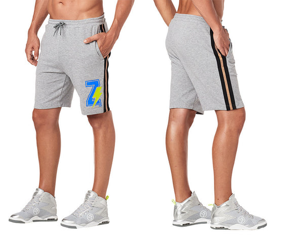 Zumba Z Men's Shorts - Thunderin Gray Z2B00218 Large