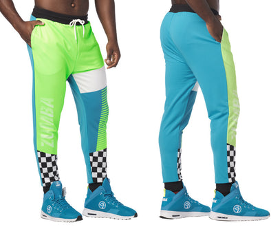 Zumba Better Faster Men's Joggers Pants - Seaside Surf Z2B00229