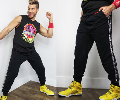 Zumba Game On Joggers Pants - Bold Black Z2B00235