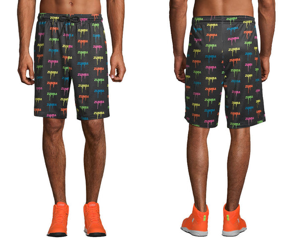 Zumba Glow Men's Shorts - Bold Black Z2B00238