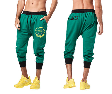 Zumba Smile Men's Capri Sweatpants - Forest Z2B00244