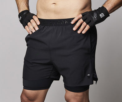Strong ID Solid Compression Shorts - Black Z2B00257