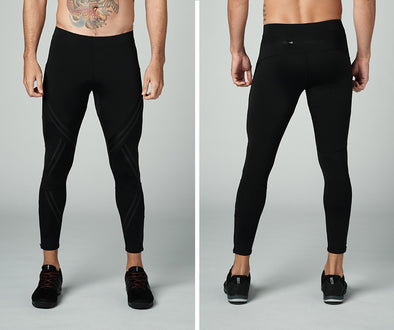Strong Nation STRONG ID Geometric Compression Men's Leggings - Black Z2B00259