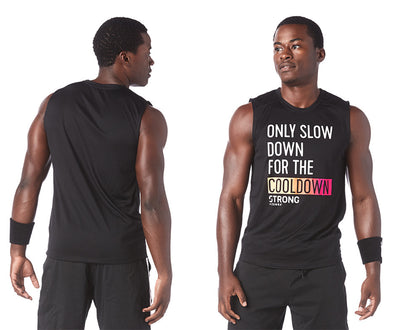 STRONG by Zumba Men's Feel Every Beat Muscle Tank - Bold Black Z2T00346