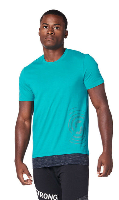 STRONG by Zumba Squat Sync Sweat Men's Top - No Big Teal Z2T00349