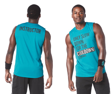STRONG by Zumba Feel Every Beat Instructor Muscle Tank - No Big Teal Z2T00374
