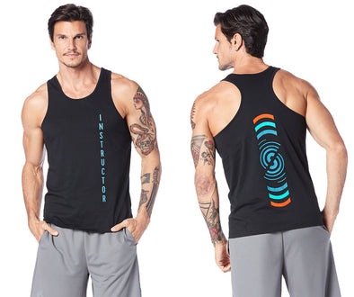 Strong by Zumba Crushin' It Men's Instructor Tank - Bold Black Z2T00377