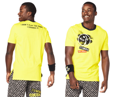Zumba Game Changer Tee - Mell-Oh Yellow Z2T00381