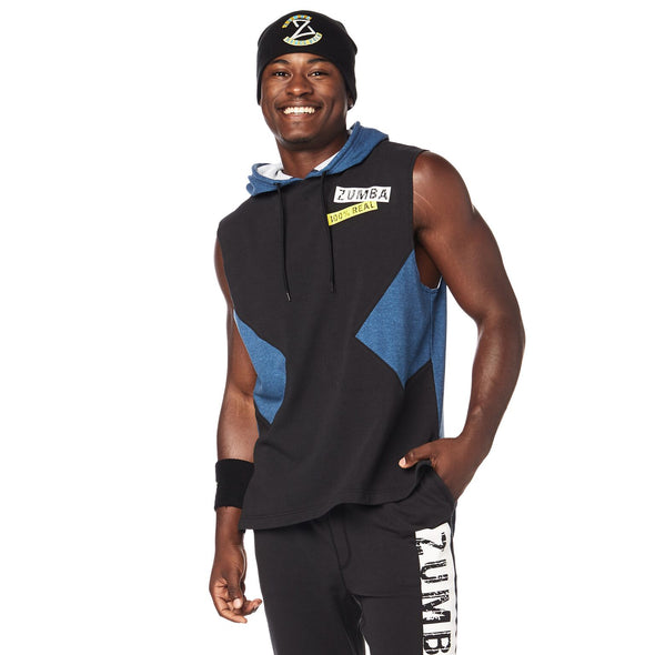 Zumba Game Changer Sleeveless Hoodie - Bold Black Z2T00383