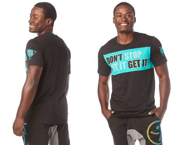Zumba I Want My Zumba Men's Tee - Bold Black Z2T00384