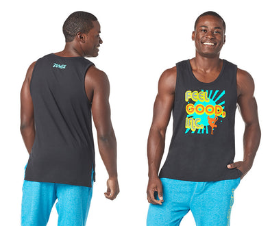 Zumba Groovy Men's Tank Top - Bold Black Z2T00392