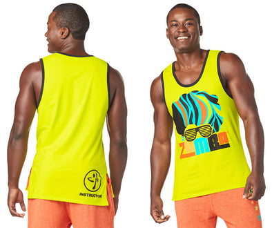 Zumba Seventies Instructor Men's Tank - Green Z2T00393