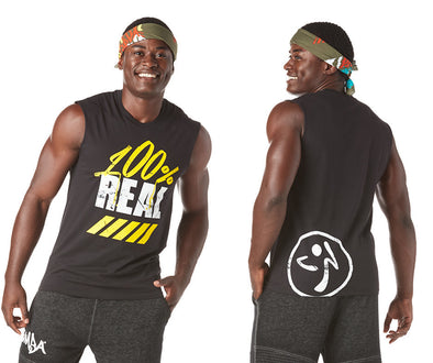 Zumba Love Over Likes Men's Muscle Tank - Bold Black Z2T00396