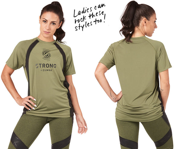 Strong by Zumba Rep After Rep Men's Top - Olive Green Z2T00400