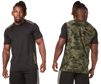 Strong by Zumba Rep After Rep Men/'s Top Olive Green Z2T00400