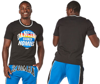 Zumba Dancing With The Homies Tee - Bold Black Z2T00424