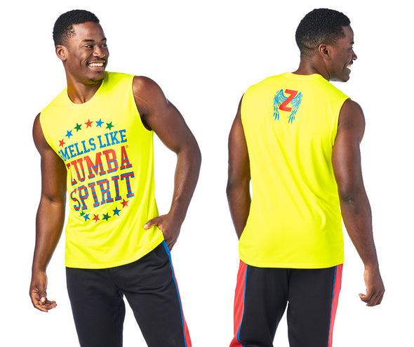 Zumba Spirit Men's Muscle Tank - Caution Z2T00431