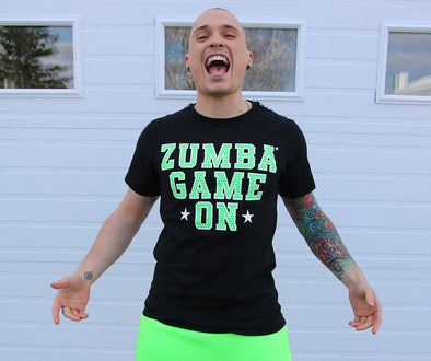Zumba Game On Men's Tee - Bold Black Z2T00450