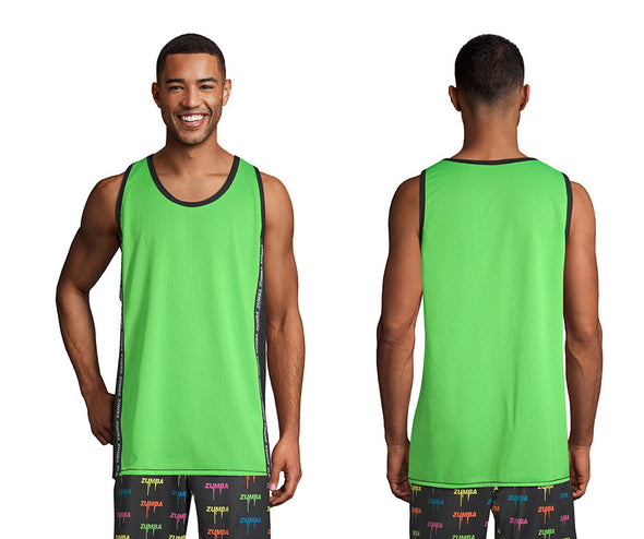 Zumba Legend Mesh Basketball Tank - Get in Lime Z2T00454