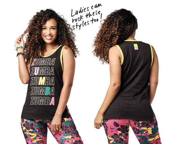Zumba Spread Zumba Love Men's Tank - Bold Black Z2T00462