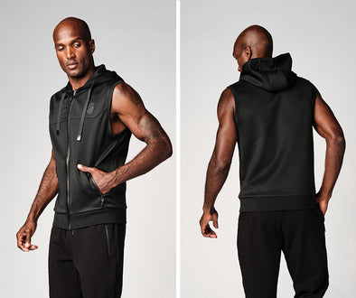 Strong Nation STRONG ID Men's Zip-Up Vest - Black Z2T00467