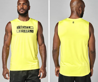 Strong Nation Active Muscle Tank - Neon Yellow Z2T00476