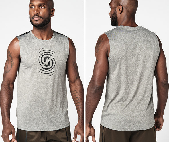 Strong Nation Active Muscle Tank - Gray Z2T00477